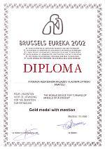 Brussels-Eureka 2002 -  Gold Medal