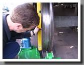 Railway wheel lathe machine 1AK200